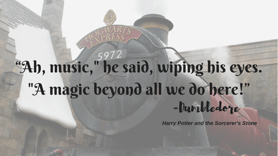 Piano Lessons in Cahaba Heights - Hogwarts Musical Emotion Expression Quote with Train